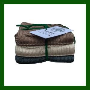 Gestrickte Putztücher 100% Bio Baumwolle